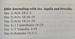 The Hill Country Hermit: Bible Journaling With Husband-And-Wife Saints:  Aquila and Priscilla