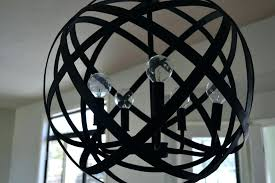 metal orb chandelier home depot wood and co large designs metal orb chandelier