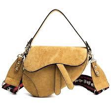 vintage leather purse saddle bag stereo women handbag double use girls cross bags dai purses vintage leather purse