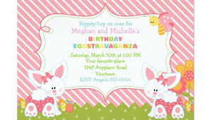 Easter Birthday Invitations Announcements Free Printable