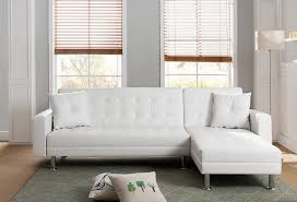 mgs 8036 wh 2 pc taylorann modern style white faux leather sectional sofa reversible chaise