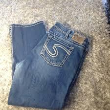Silver Jeans Waist Size Chart Silver Jeans Natsuki Capri Size 18
