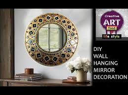 diy wall hanging mirror decoration room decor art with creativity you