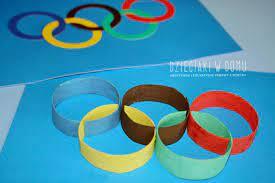 Koła olimpijskie kreatywnie - Dzieciaki w domu