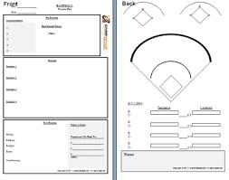 Baseball Spray Chart Template Pitching Chart Template Baseball Scorebook And Softball
