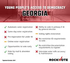 Information Elections The Rock Vote Georgia And Voting -