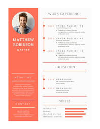 Orange and White Modern Resume