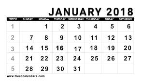 2018 calendar printable free 25 blank printable january 2018 calendar free templates