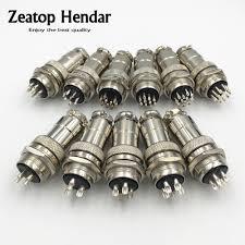 <b>1Set</b> GX20 XLR <b>2 3 4 5 6 7 8 9</b> 10 12 14 <b>Pin</b> Female Plug 20mm ...