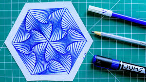 How To Draw Single Pattern Design How To Draw Single Pattern Design Design 10 Simple Geometric Design Rainbow Art