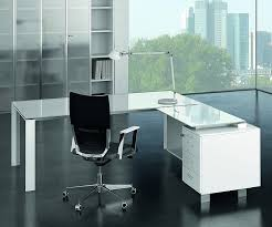 glass office furniture. Pure White Glass Desk Office Furniture
