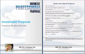 Sample Investment Proposal Custom Business Proposal For Investors Sample Kordurmoorddinerco