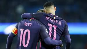 Goals Bt Ween Messi And Neymar Jr FC Barcelona's Neymar Jr and Leo Messi up for the 24 Puskas Award 14 115616