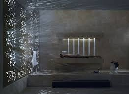 modern bathroom shower design. Donbracht Horizontal Shower - The Concept Behind Dornbracht Is Incredibly Enticing, Merging Facilities Of Bathtub And Modern Bathroom Design