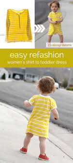 refashion an old or unworn women s tee into an adorable dress for a baby toddler