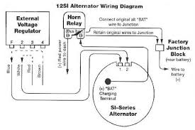 alternator wiring diagrams and information com typical externally regulated to internally regulated alternator conversion