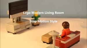 Motion Living Room Furniture Modern Lego Living Room Furniture Stop Motion Build Youtube