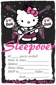 free sleepover invitation templates 844 free sleepover invitations templates 17 hello kitty invitation
