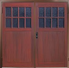 harrow side hinged garage door in grp
