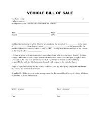 Free Auto Bill Of Sale Template Bill Of Sale Doc Fi Card Templates