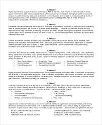 Gallery Of Sample Resume Summary Statement 9 Examples In Word Pdf
