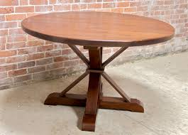 48 round oak table phoenix pedestal brow cherry