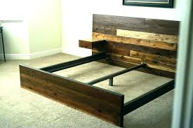 Reclaimed Wood King Bed Rustic Reclaimed Wood King Bed Frame With ...