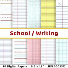 School Digital Papers Handwriting Practice Back To School Lined Journal Paper Dot Grid Printable Preschool Paper Graph Paper Journal