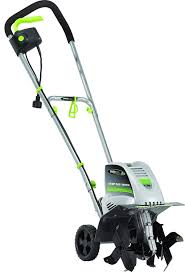 this garden tiller is lightweight and very easy to work around with