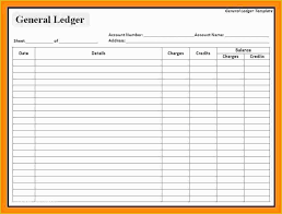 Accounting Ledger Templates Free Accounting General Ledger Template Of 5 Accounts Ledger