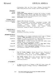 Pharmacy Curriculum Vitae Unique Curriculum Vitae Giulia Asola Resume Pharmacy
