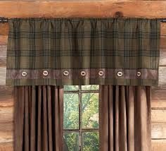 Western Rustic Decor Rustic Curtains Cabin Window Treatments Country Western Window
