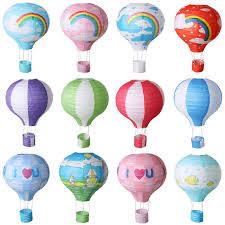 12 hot air balloon paper lantern multicolor lamp shade wedding party decoration
