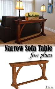 narrow sofa table. Free DIY Plans To Build A Stylish Narrow Sofa Table For About $30. R