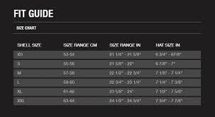 Custom Size Chart Bell Helmets Size Chart