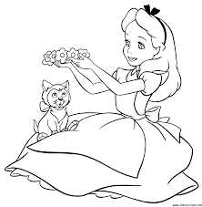 Small Picture Free Alice In Wonderland Coloring Page 34 About Remodel Free