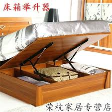 high bed box floor with gas support tatami frame hydraulic rod pressure diy