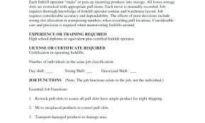 Warehouse Job Description For Resume Best Of Forensic Photographer Job Description And Forklift