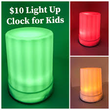 Toddler Clock Green Light Light Up Clock For Kids Green Means Go Red Stay In Bed