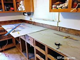 pour concrete countertops in place how to make beautiful white cast in place concrete pour in pour concrete countertops in place