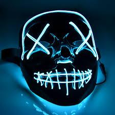 Light Up Skull Mask Mascara Led Mask The Purge Light Up Neon Skull Mask Party