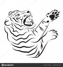 тату тигр эскизы злой тигр эскиз векторное изображение
