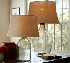 Glass Base Table Lamps
