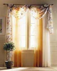 Yellow Curtains For Living Room Sweet Curtain Ideas For Living Room With Yellow White And Floral
