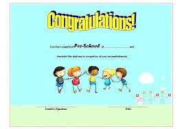 Preschool Graduation Certificate Editable Editable Preschool Graduation Certificate Template Preschool