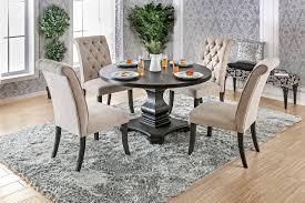 round kitchen table. Furniture Of America CM3840RT Round Dining Table | Fancy Antique Black Pedestal Kitchen