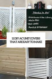 ac unit cover. 11 diy ac unit covers that are easy to make ac cover r