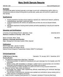 Resume For Nursing Student Lezincdc Com