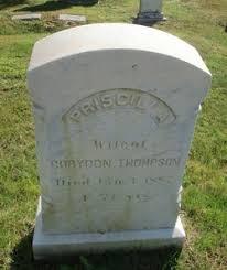 Priscilla Curtis Thompson (1809-1887) - Find A Grave Memorial