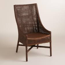 Rattan Kitchen Furniture Brown Woven Rattan Carson Chairs Set Of 2 Chairs The Ojays And